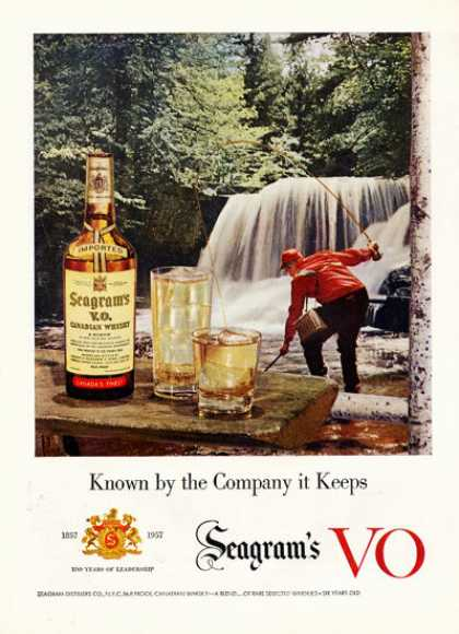 Seagram's Vo Whisky Fly Fishing (1957)