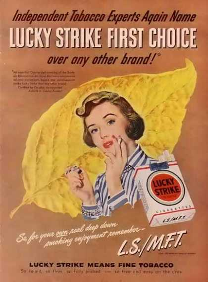 Lucky Strike Cigarettes – First Choice (1948)
