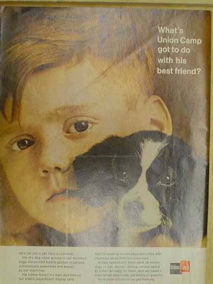 Union Camp. Little boy and puppy theme (1968)