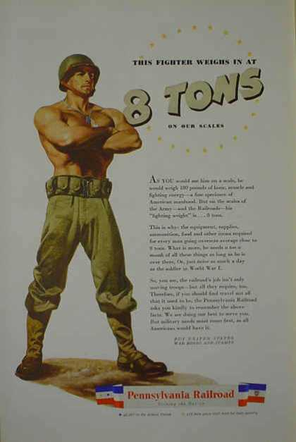 Pennsylvania Railroad Fighter Weighs 8 tons Military theme (1941)