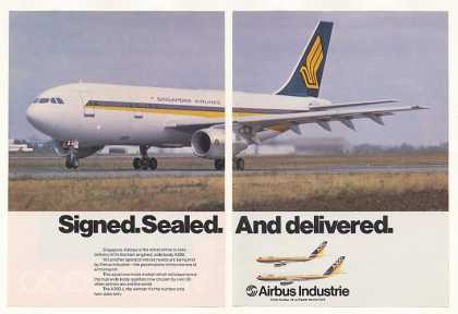 '81 Singapore Airlines Airbus A300 Aircraft Photo 2P (1981)