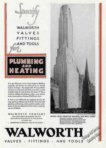 Irving Trust Co. One Wall St Ny Architecture (1930)
