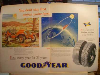 Goodyear Don't stay first 1915 and (1946)