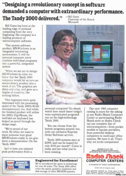 Tandy Corporation's Tandy 2000 (1984)