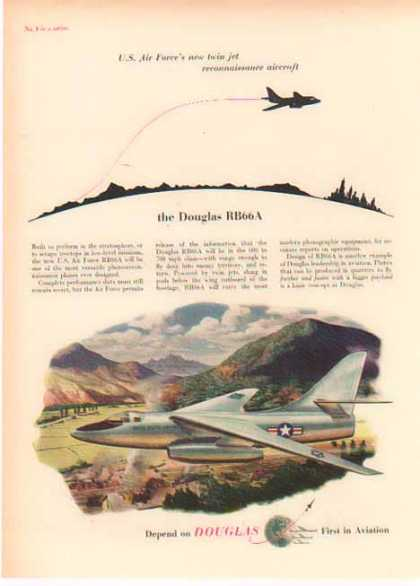 Douglas Aircraft – RB66A Twin Jet – First in Aviation (1952)