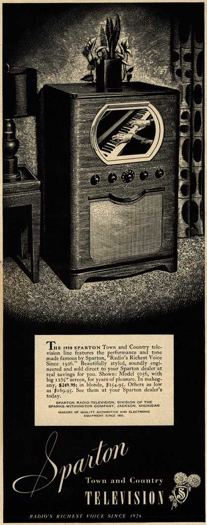 Sparton Radio-Television's Television – Sparton Town and Country Television (1950)