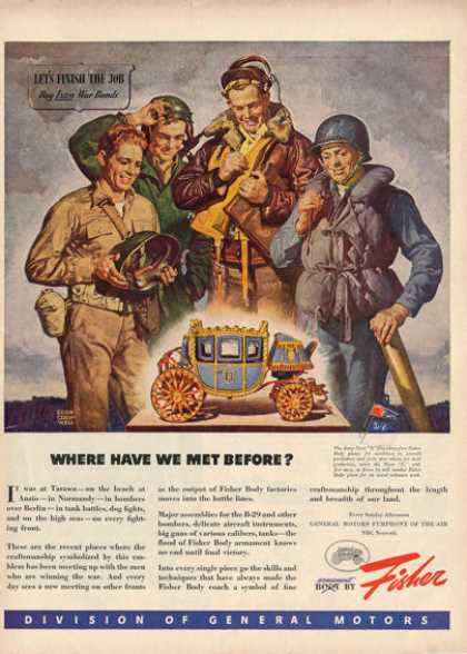 Fisher Wwii Navy Army Air Force Marine Gi Ad T (1945)