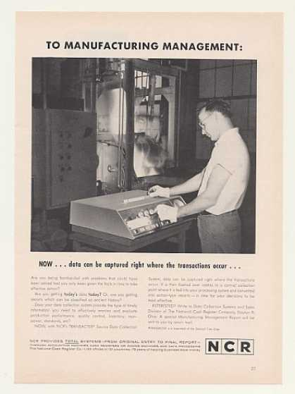 NCR Transacter Source Data Collection System (1963)