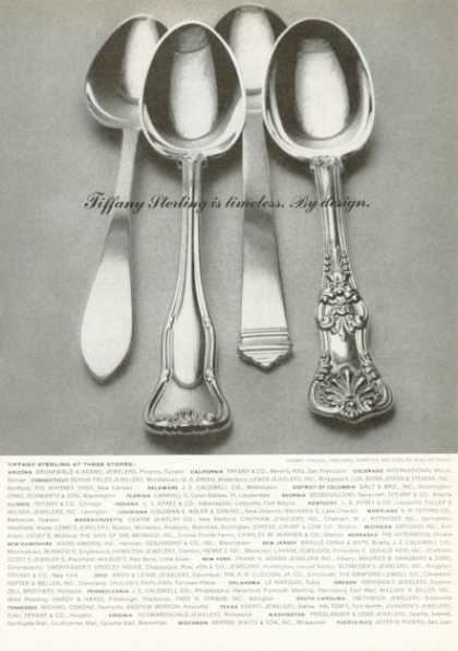 Tiffany Co Sterling Silver 4 Patterns (1972)