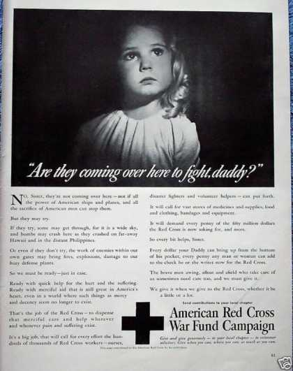 American Red Cross Little Girl Daddy Are They (1942)
