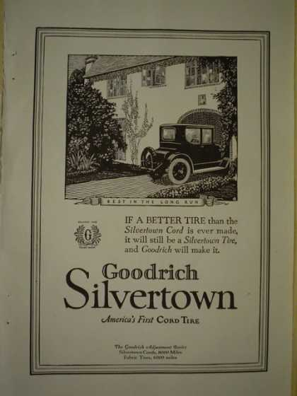Goodrich Silvertown Finest Cord Tire AND Sonora Phonograph Company (1920)