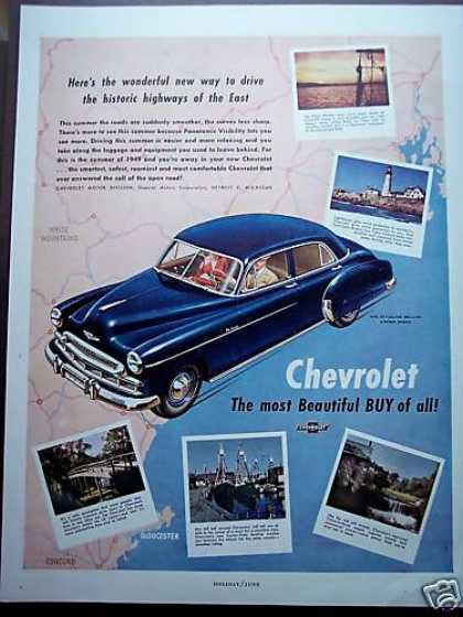 Blue Chevrolet Highways of the East Car (1949)