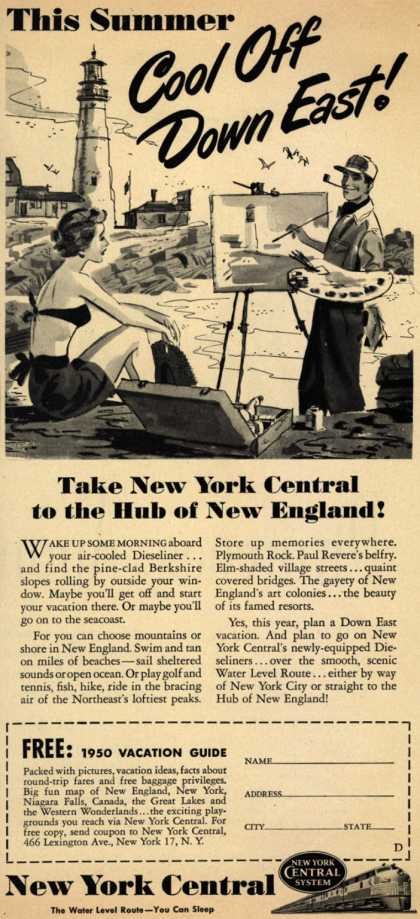 New York Central System's New England Vacations – This Summer Cool Off Down East (1950)