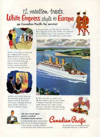 Canadian Pacific White Empress Cruise Boat (1952)