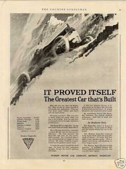 """Hudson Car Ad """"It Proved Itself... (1917)"""