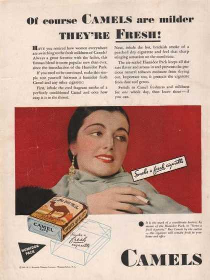 """""""They're Fresh"""" Camel Cigarettes (1931)"""