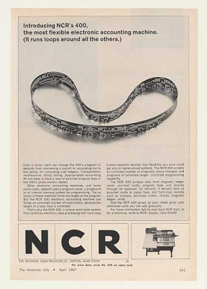 NCR 400 Electronic Accounting Machine Tape Loop (1967)