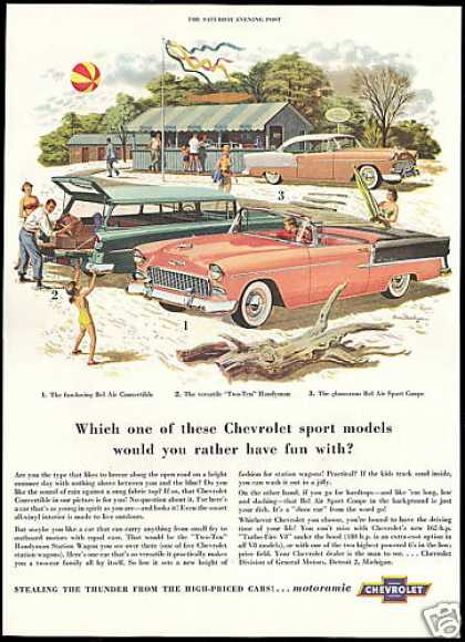 Chevrolet Bel Air Convertible Coupe 210 Wagon (1955)