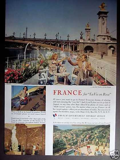 France the Banks of the Seine Travel Vacation (1953)