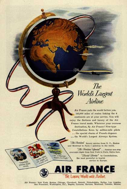 Air France – The World's Largest Airline (1953)