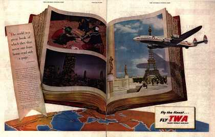 Trans World Airline's World Travel – Fly the finest... Fly TWA (1953)