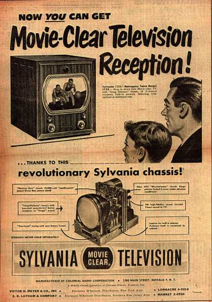 Colonial Radio Corporation's Television – Now You Can Get Movie-Clear Television Reception (1949)