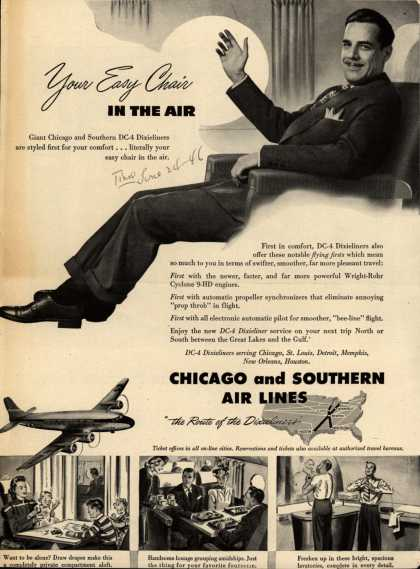Chicago and Southern Air Line's Dixieliners – Your Easy Chair in the Air (1946)
