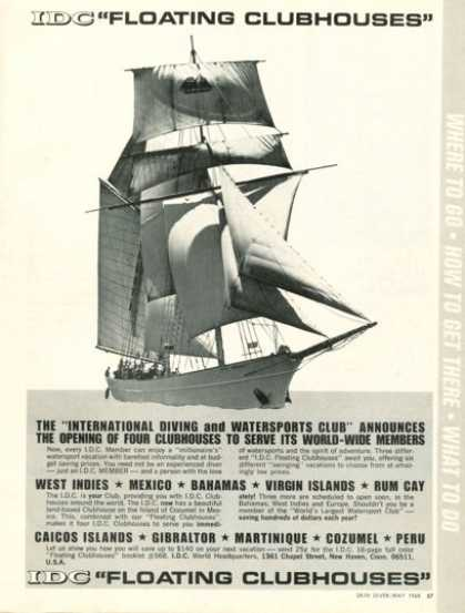 Idc Floating Clubhouse Diving Ship Vacation (1968)