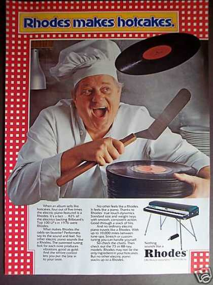 Rhodes Piano Keyboard Lps Sell Like Hotcakes (1977)