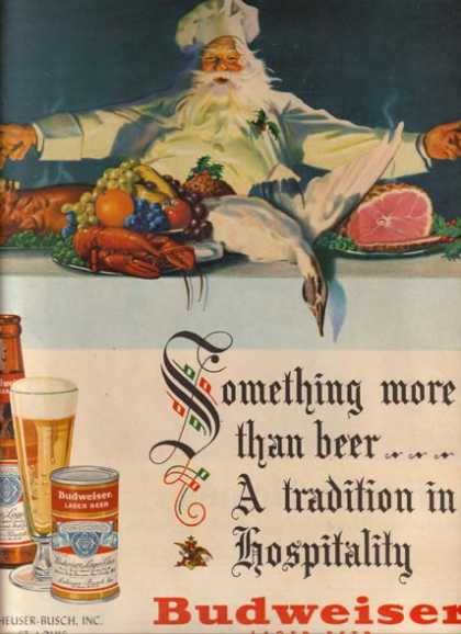 """""""Something more than beer...A tradition in hospitality"""" (1950)"""