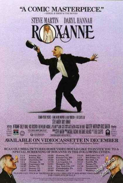 """""""Roxanne"""" Collectible Movie (1987)"""