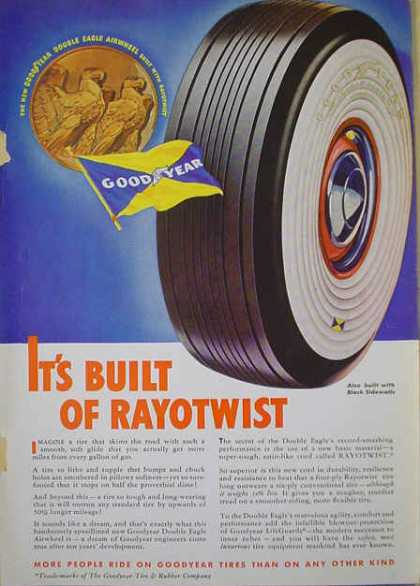 Goodyear tires Built of Rayotwist (1938)