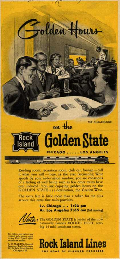 Rock Island Line's Chicago to Los Angeles – Golden Hours (1951)