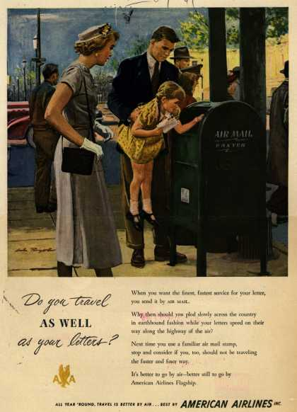 American Airlines – Do you travel as well as your letters? (1949)