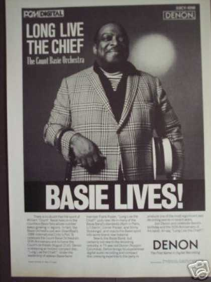 Count Basie Album Cd Long Live the Chief Promo (1986)
