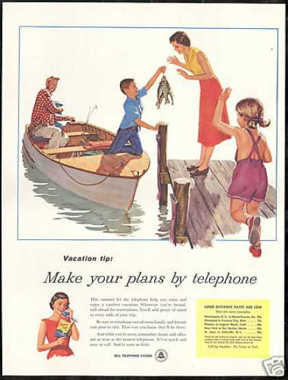 Vacation Plans Fishing Bell Telephone System (1956)
