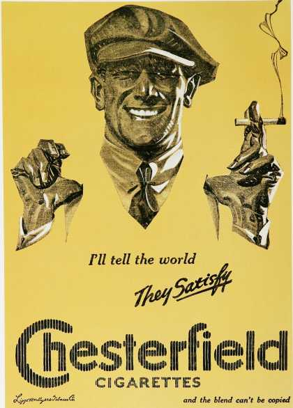 Chesterfield Cigarettes – They Satisfy