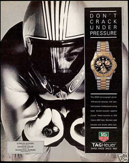Downhill Snow Skier Tag Heuer Watch Tagheuer (1993)