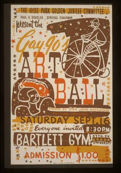 The Hyde Park Golden Jubilee Committee present the Gay 90's Art Ball – staged by Nick John Matsoukas. (1939)