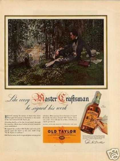 Old Taylor Whiskey (1937)