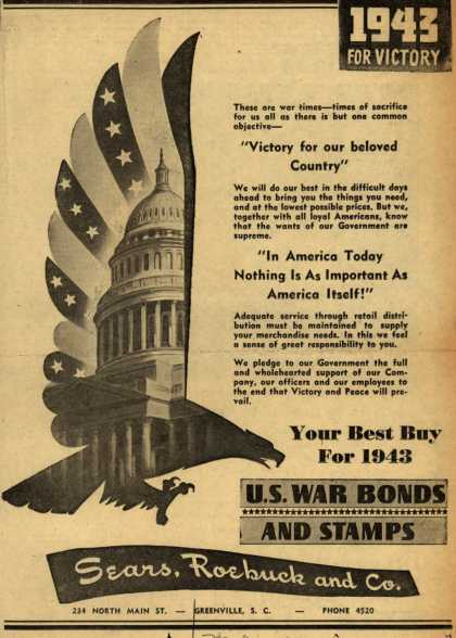 Sears, Roebuck and Co.'s War Bonds – 1943 For Victory (1943)