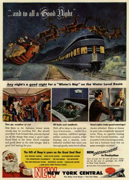 """New York Central System's New York Central – """"...and to all a Good Night"""" (1946)"""