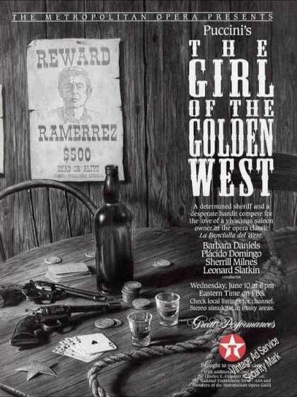 """Puccini's """"Girl of the Golden West"""" Opera Pbs (1992)"""