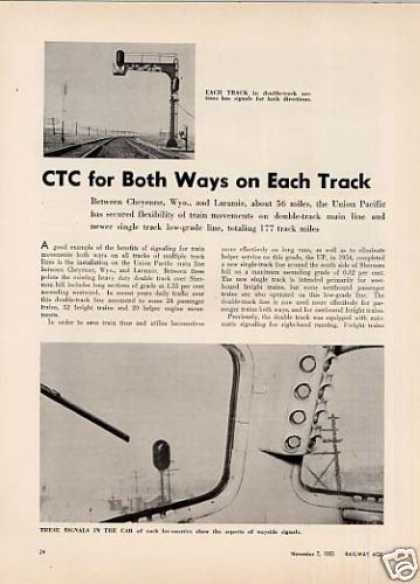 """""""Ctc for Both Ways On Each Track"""" Article/up (1955)"""