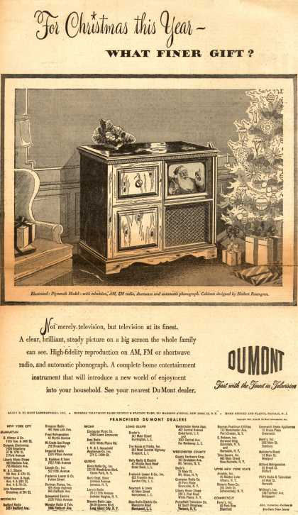 Allen B. DuMont Laboratorie's various – For Christmas this Year – What Finer Gift? (1947)