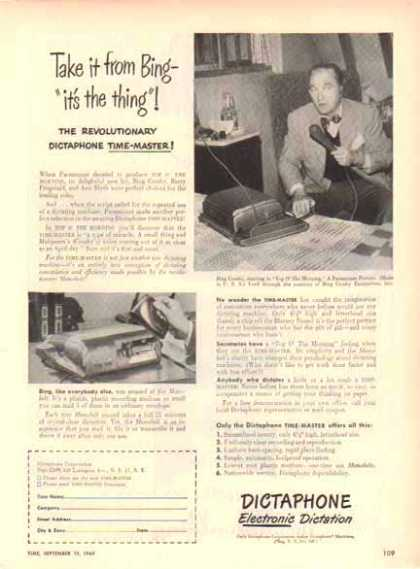Bing Crosby – Dictaphone Electronic Dictation (1949)