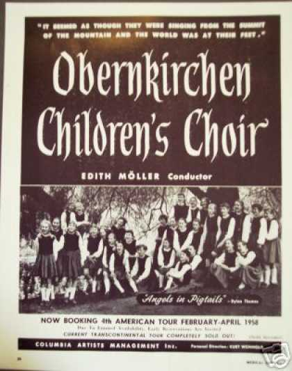 Angels In Pigtails Childrens Choir Booking (1957)