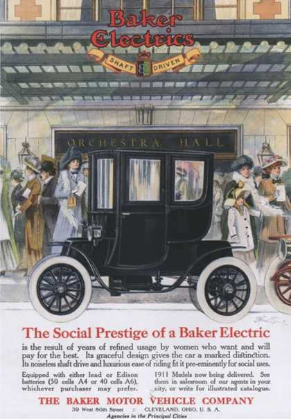 Baker Electric Cars, USA (1910)