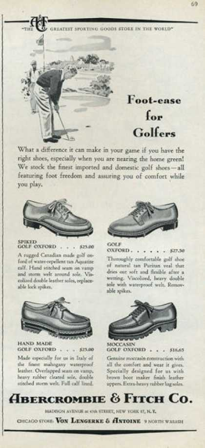 Abercrombie & Fitch Golfers Fashion Shoes (1952)