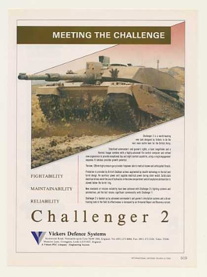 Vickers Challenger 2 Army Tank Photo (1990)